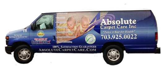 Absolute Carpet Cleaning Van